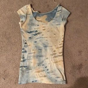 Tops - Women's Distressed T-Shirt